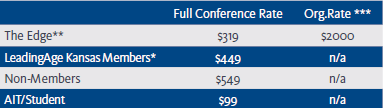 Pricing for Spring Conference